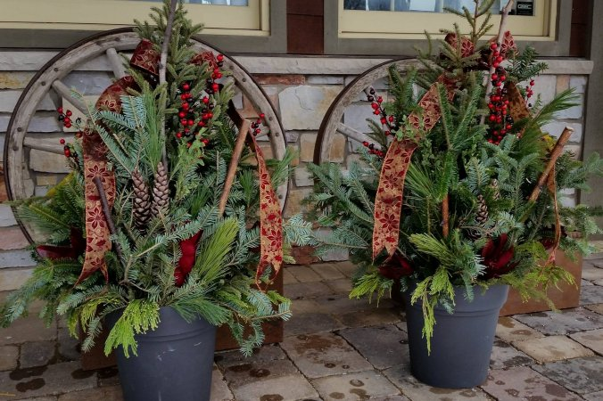 Holiday Spruce Arrangements