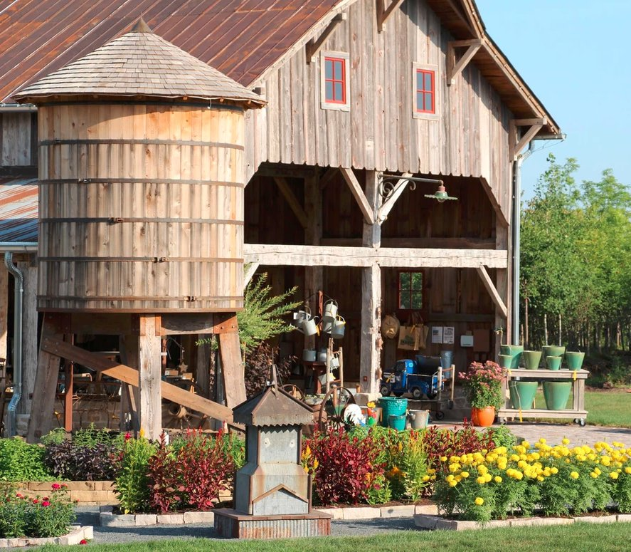 Hartman Garden Center barn